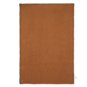 Couverture Knit - Caramel chaud