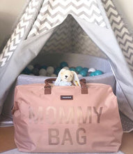 Charger l'image dans la galerie, SAC MOMMY BAG -Rose, anses camel