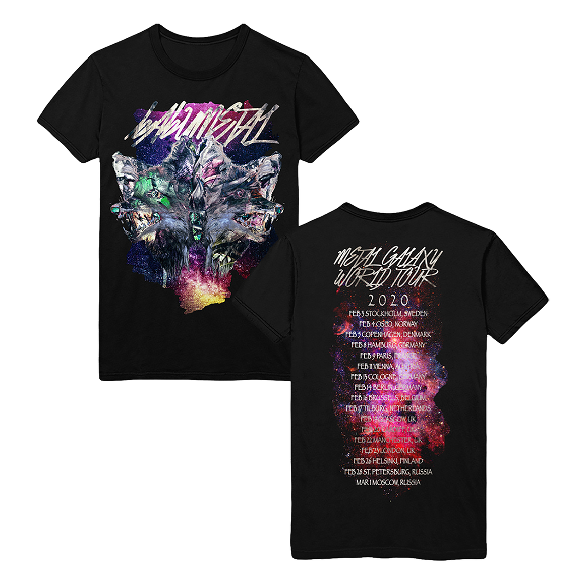 FOXES MONTAGE -MGWT EU VER.- TEE - BABYMETAL UK STORE