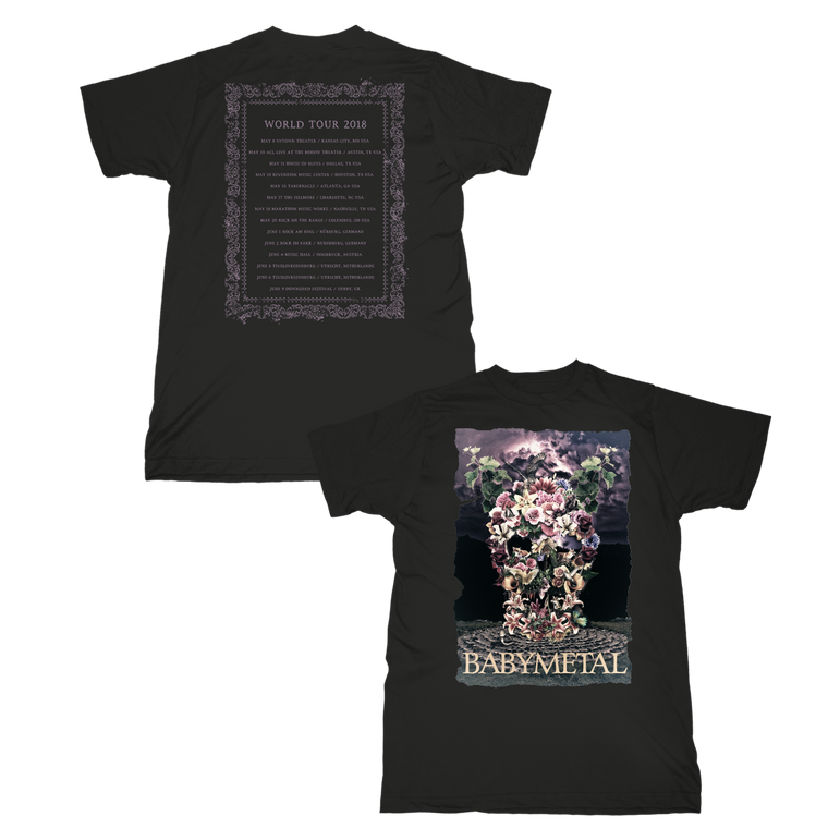 DEATH GARDEN TOUR TEE - BABYMETAL UK STORE