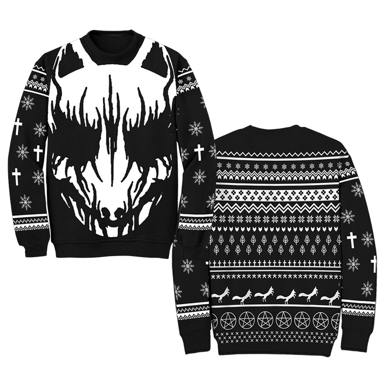"""WHITE FOX"" UGLY HOLIDAY SWEATER - BABYMETAL UK STORE"