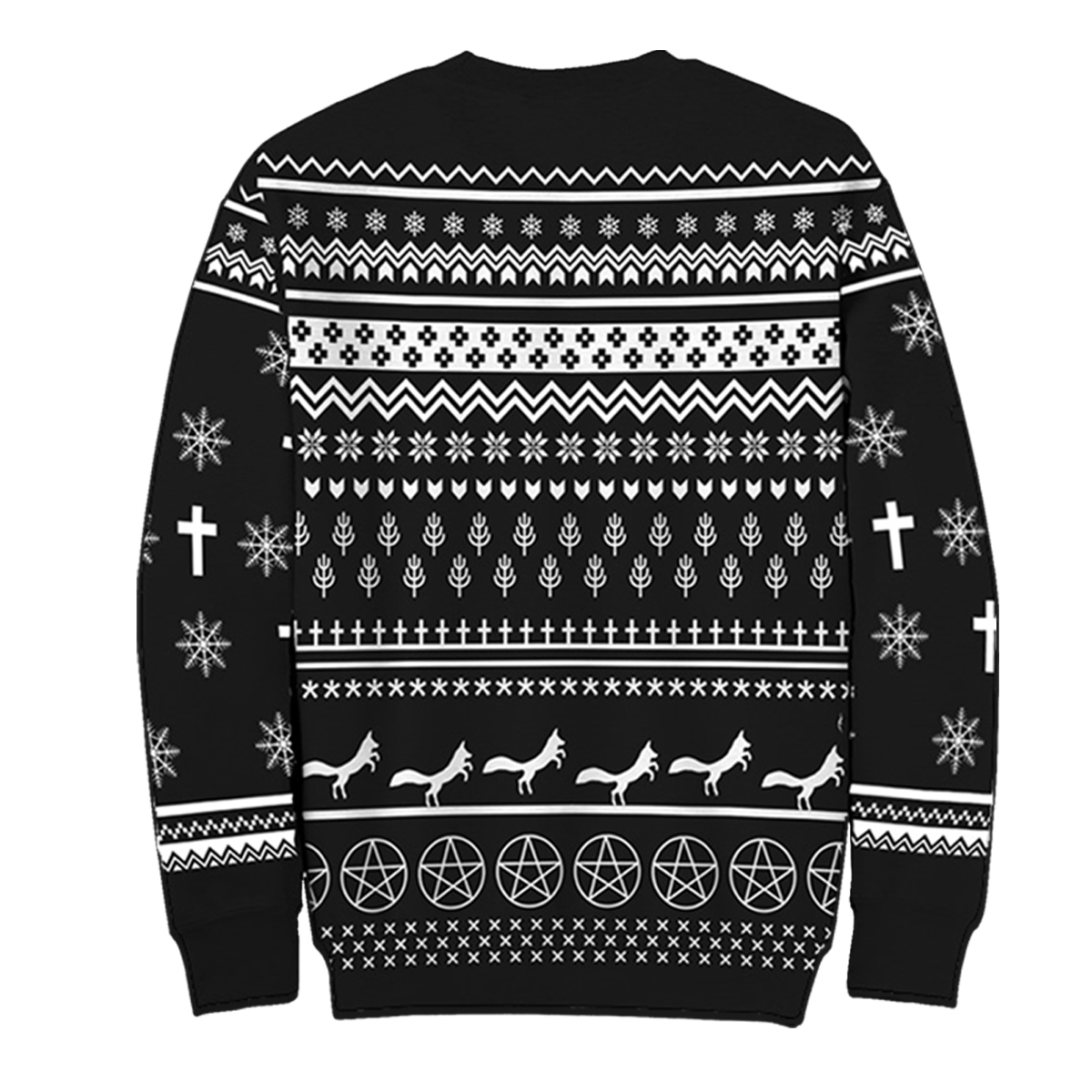 Christmas Sweater.White Fox Ugly Holiday Sweater