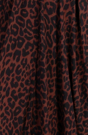 3/4 COLD SHOULDER DRESS ANIMAL PRINT-VBLD145