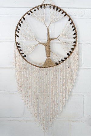 VVLH145 - TREE OF LIFE SHELL DREAM CATCHER (40CM)