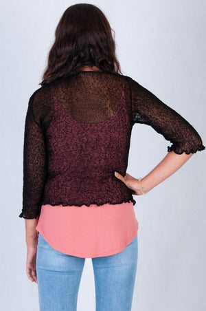 VBLJ045A - CARA KNITTED JACKET - BLACK