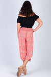 VJHP051 - 3/4 ROUCHED PANTS - MELON/PINK
