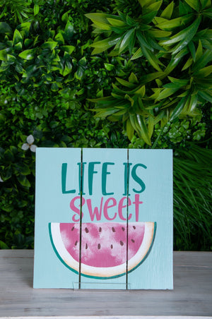 VVLH159 - SIGN BOARDS 30x30cm - LIFE IS SWEET