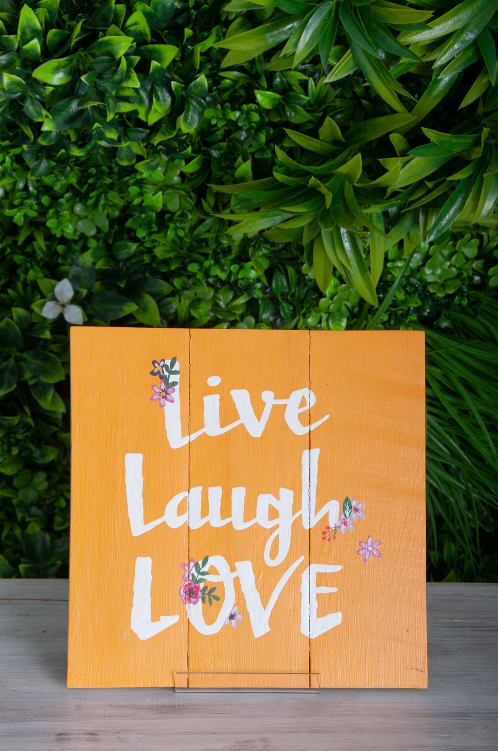 VVLH159 - SIGN BOARDS 30x30cm - LIVE LAUGH LOVE