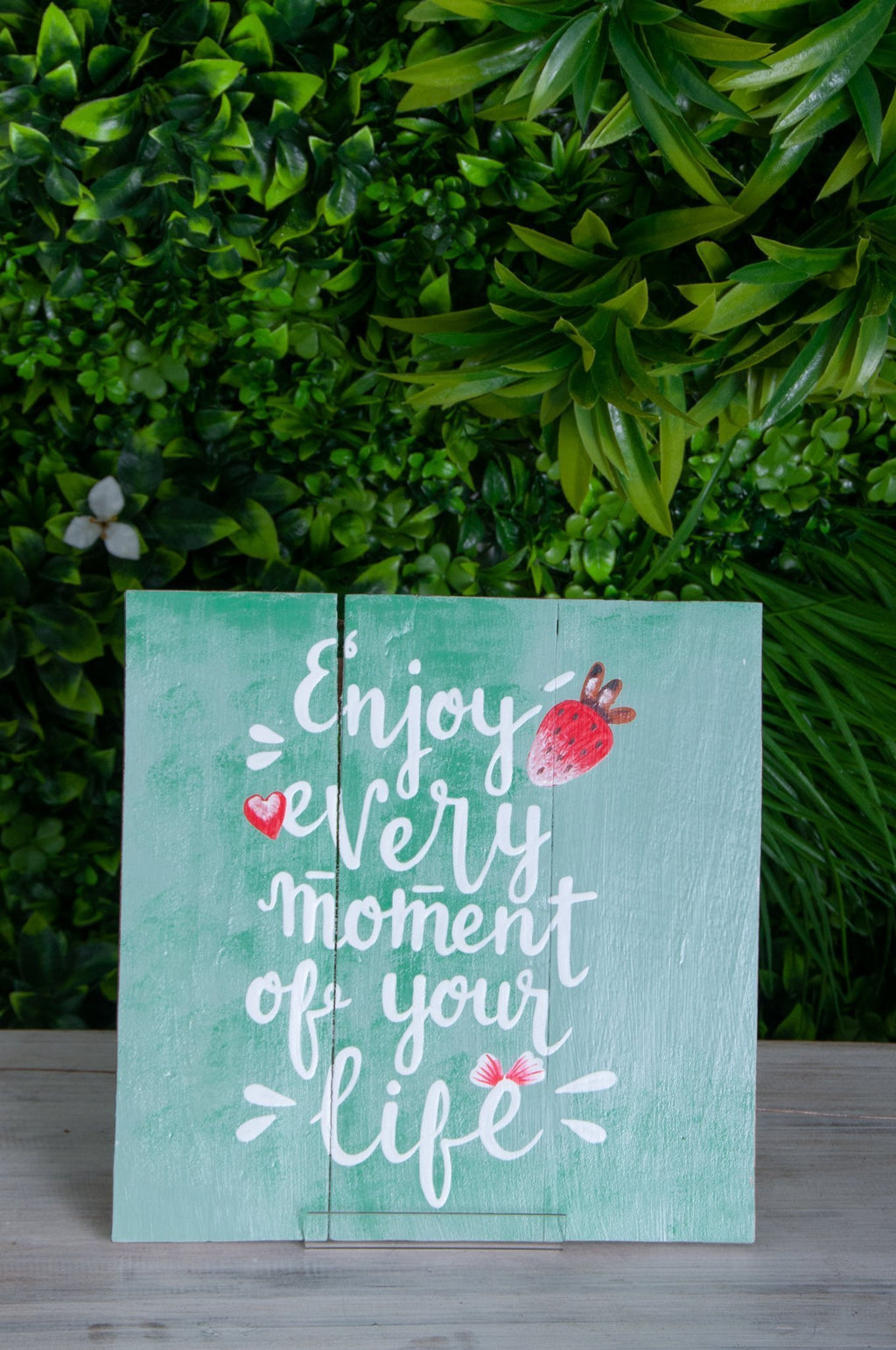 VVLH159 - SIGN BOARDS 30x30cm - ENJOY EVERY MOMENT