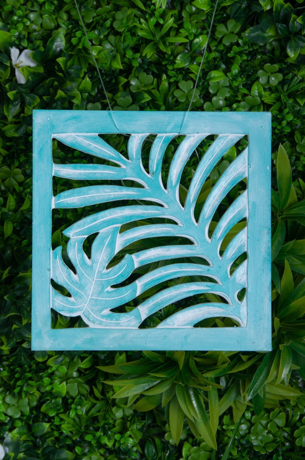 VVLH111 - SQUARE WOOD FERN PANEL 50 x 50cm - BABY GREEN WASH