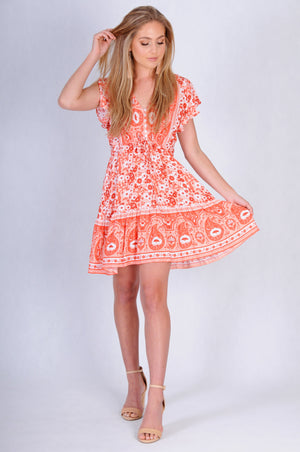 VJHD232 - TWIGGY DRESS - DITZY PEACH