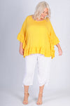 VBLT111 - RELAXED TOP WITH DOUBLE FRILL - SUNSHINE