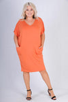 VBLD119 - SAND BAR BAMBOO DRESS - BURNT ORANGE