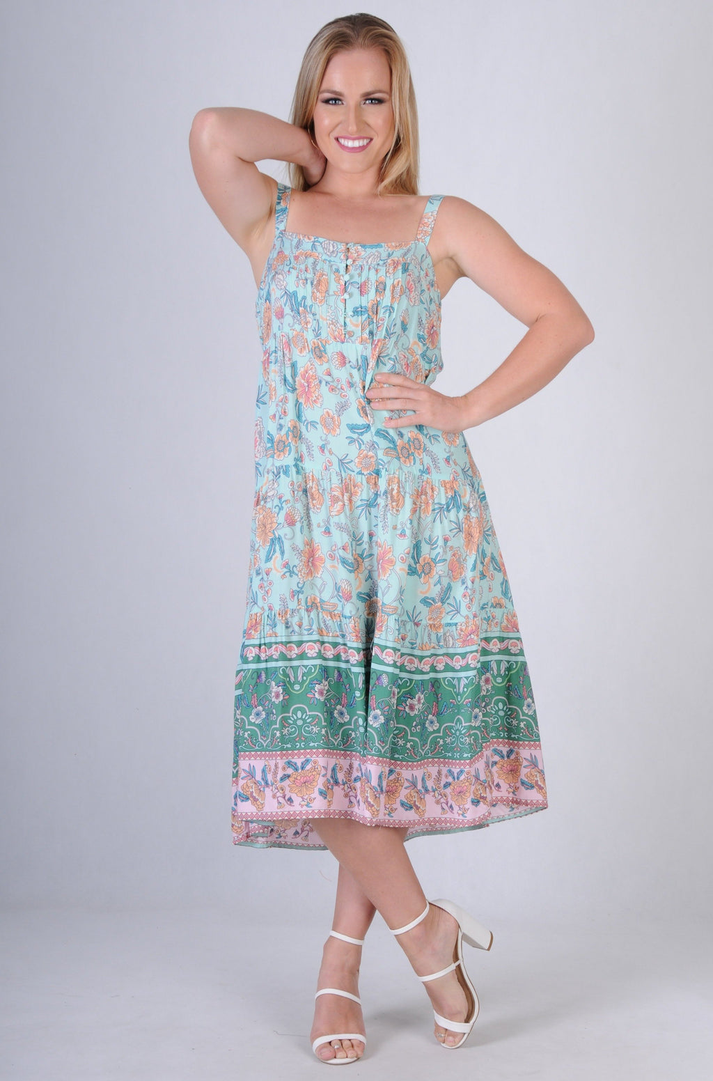 VJHD228 - GARDEN PARTY DRESS - MERMAID MINT