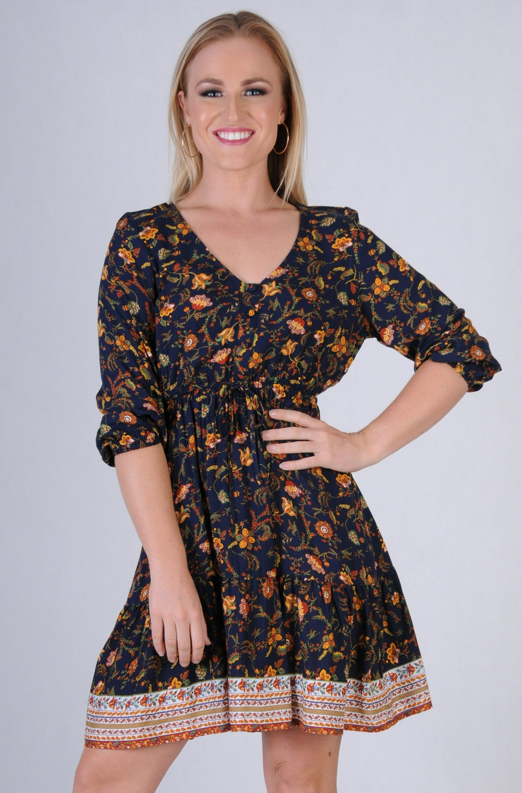 VJHD231 - WALNUT DRESS - ARIZONA NAVY