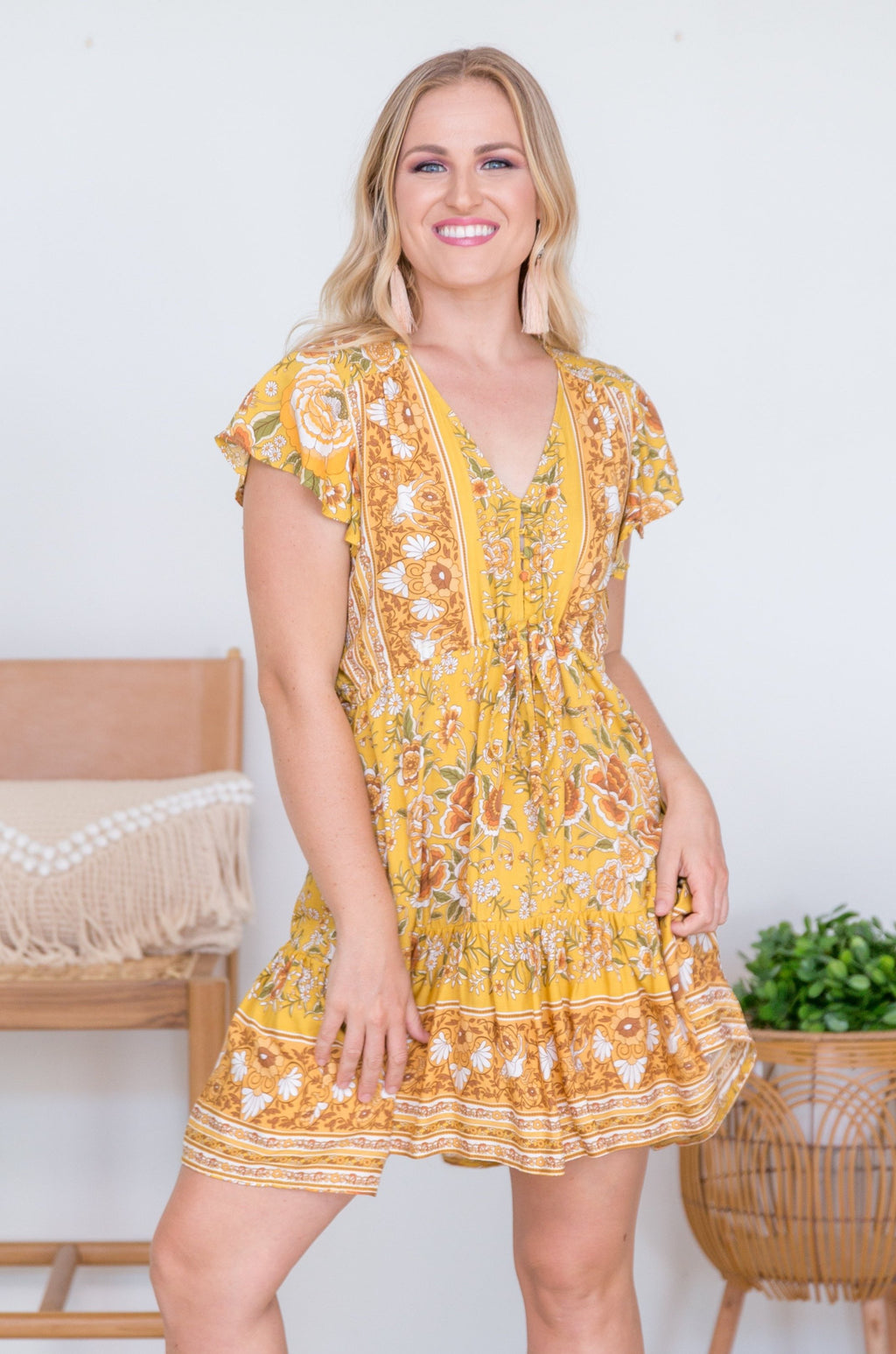 VJHD232 - TWIGGY DRESS - SWEET & SOUR CITRUS