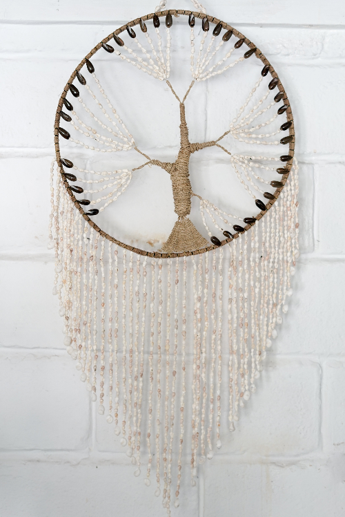 VVLH165 - TREE OF LIFE SHELL DREAMCATCHER (50CM)