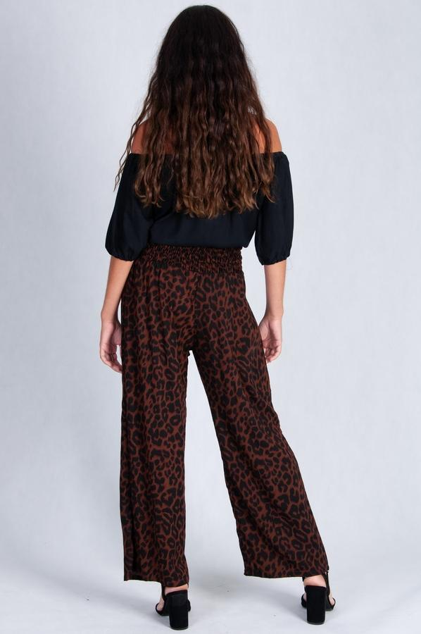 VLP067I - LONG ROUCHED PANTS - ANIMAL
