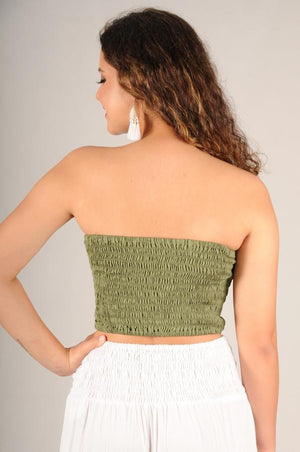 ROUCHED BANDEAU TOP - VGLT086S