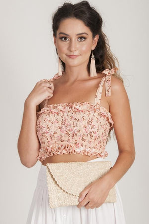 VJHT096 - ROUCHED TOP WITH STRAPS