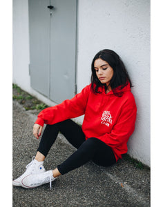 "Hoodie ""Love pizza social club Fire Red"""