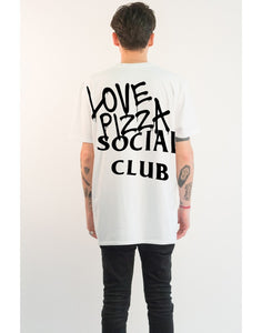 "T-shirt ""Love Pizza Social Club"" white"