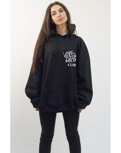 "Hoodie ""Love pizza social club Black"""