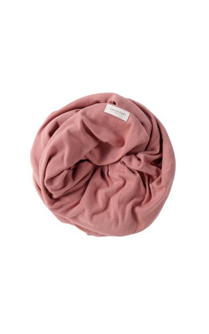 ORGANIC SWADDLE BLANKET- PINK CLAY