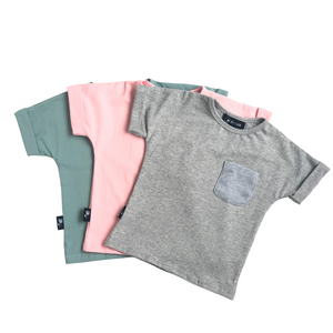 Short Sleeve Patch Pocket Shirt - Baby Pink - Bolts & Blooms