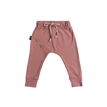 Load image into Gallery viewer, Ribbed Cotton Harem Pants - Pastel Pink - Bolts & Blooms