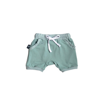 Load image into Gallery viewer, Harem Shorts - Sage Green - Bolts & Blooms