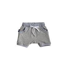 Load image into Gallery viewer, Harem Shorts - Gray - Bolts & Blooms