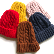 Load image into Gallery viewer, Cable Knit Beanie - Bolts & Blooms
