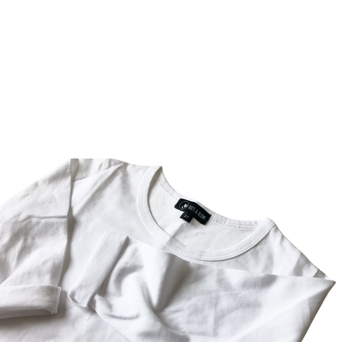 Basic Long Sleeve Tee - White - Bolts & Blooms