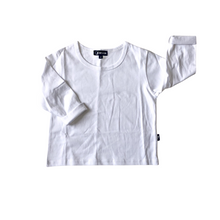 Load image into Gallery viewer, Basic Long Sleeve Tee - White - Bolts & Blooms