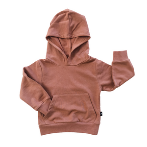 Oversized Pullover Hoodie - Rosy Brown - Bolts & Blooms
