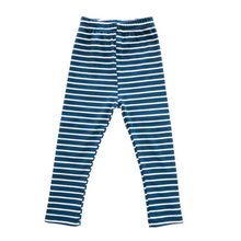 Load image into Gallery viewer, Striped Ribbed Leggings - Indigo - Bolts & Blooms