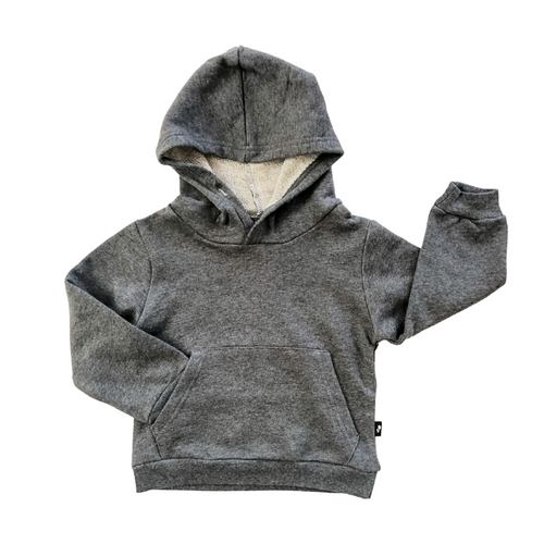 Oversized Pullover Hoodie - Charcoal Heather - Bolts & Blooms