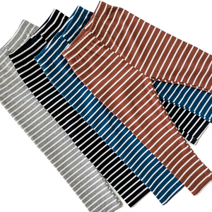 Striped Ribbed Leggings - Indigo - Bolts & Blooms