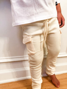 Flap Pocket Cargo Legging - Vanilla - Bolts & Blooms