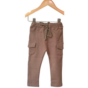 Flap Pocket Cargo Legging - Chocolate Milk - Bolts & Blooms