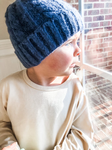 Cable Knit Beanie - Bolts & Blooms