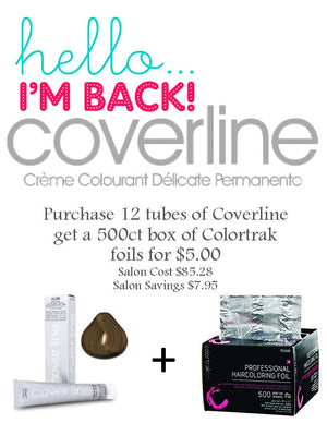 Coverline Hair Color Colortrak Foil