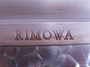 Rimowa Authentic Vintage Aluminum, Wood and Leather Trunk RARE 70er