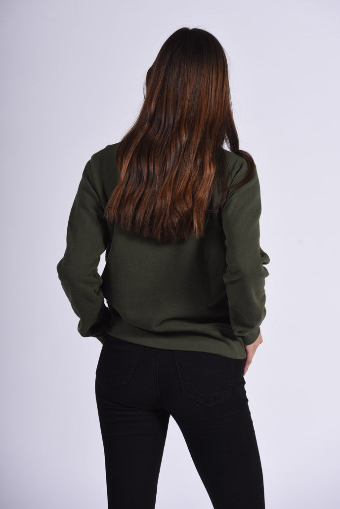 Green Cotton Women's Sweatshirt Ethical