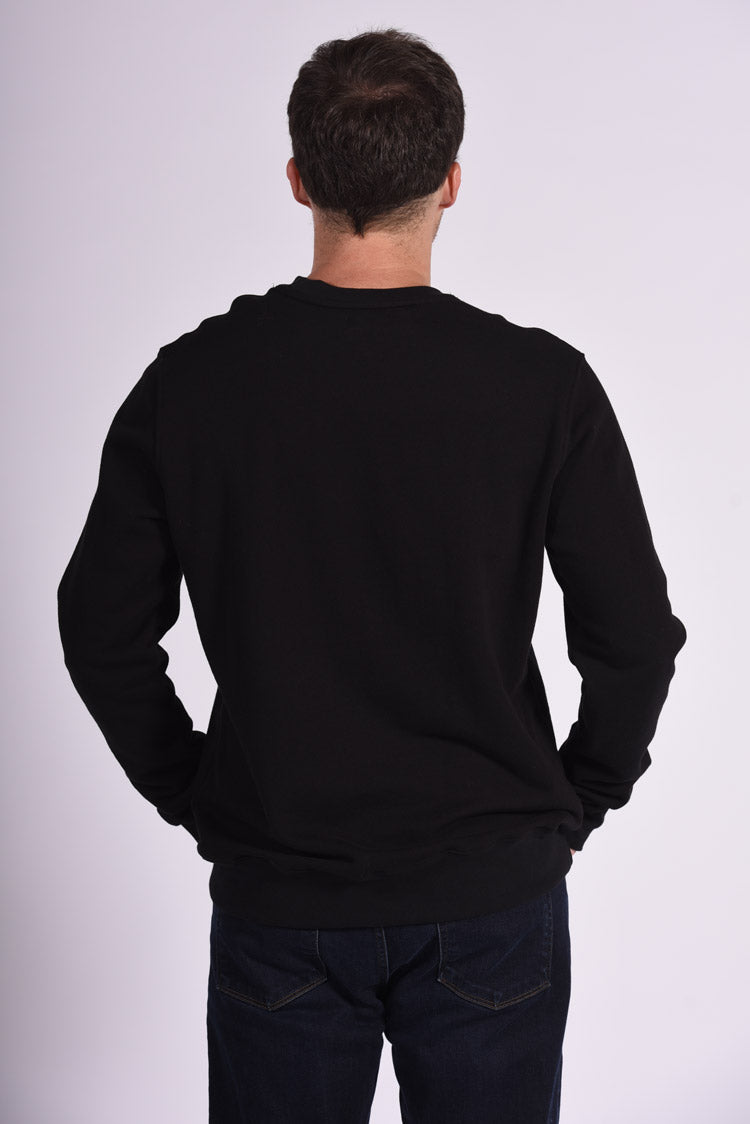 Black Cotton Men's Sweatshirt Ethical