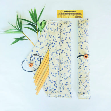 Bamboo Straws fabric package (5) or (10)