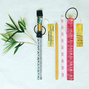 Bamboo Straw Single package +1 free straw
