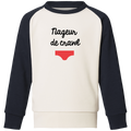 "Sweat col rond enfant coton bio ""nageur de crawl"""