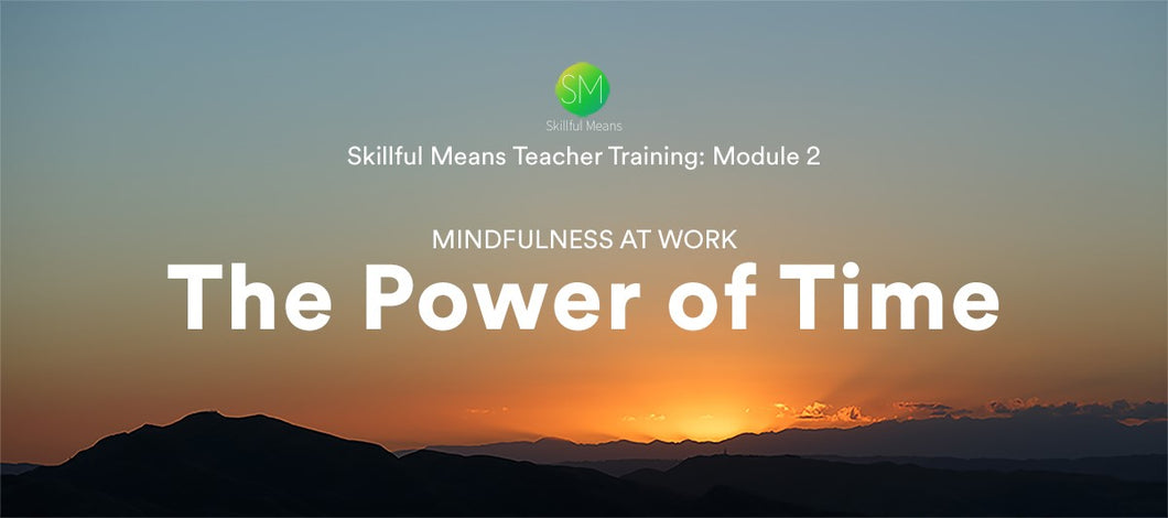 Skillful Means, Module Two, The Power of Time, Self-study Video Program